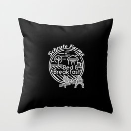 Schrute Farms bed and breakfast and self defense – funny Throw Pillow