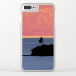 Solitary South Pacific Island At Sunset Clear iPhone Case