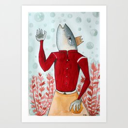 Rey pez Art Print