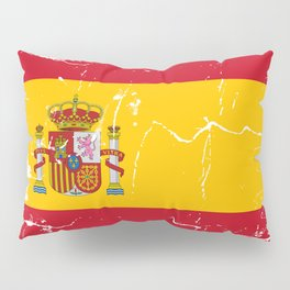 Spain flag with grunge effect Pillow Sham