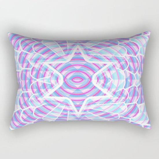 Blue trance Rectangular Pillow