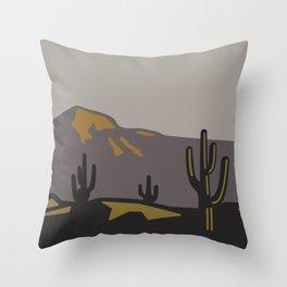 Saguaros at Sunset Throw Pillow