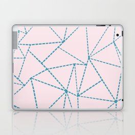 Ab Dotted Lines Blue on Pink Laptop & iPad Skin
