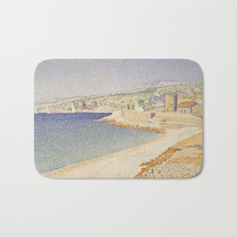 The Jetty at Cassis, Opus 198 Bath Mat