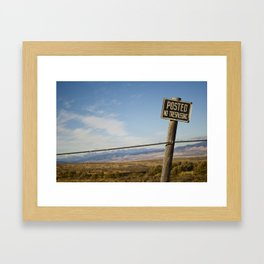 Posted  Framed Art Print