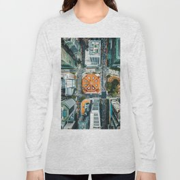 Aerial Cityscape View (Color) Long Sleeve T-shirt