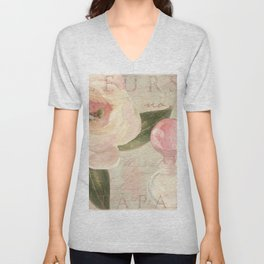 Perfume and Roses II Unisex V-Neck