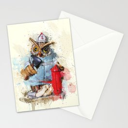 FireOwl Stationery Cards