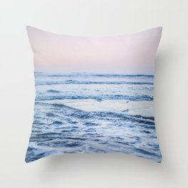 Pacific Ocean Waves Throw Pillow