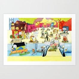 CYCLE CITY canal scene II Art Print