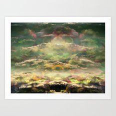 Head in the Clouds by Debbie Porter - Designs of an Eclectique Heart Art Print