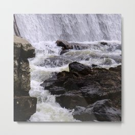 Lowell Tannery Hydro Dam Spring Rush Metal Print