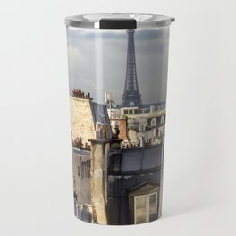 Eiffel Tower and Rooftops in Paris Travel Mug