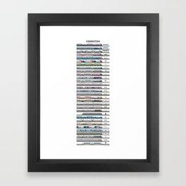 Commuter Rail Infographic Framed Art Print