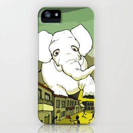The White Elephant iPhone Case