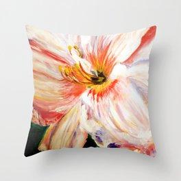 White Daylily Throw Pillow