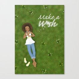 Make a Dandelion Wish Canvas Print