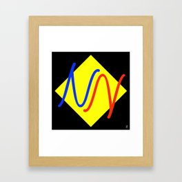 """""""NY""""  Invertible design monogram Framed Art Print"""