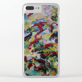 Unchained: Bold and Colorful Orginal painting Clear iPhone Case