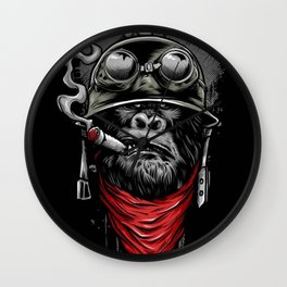 smoking chimp Wall Clock
