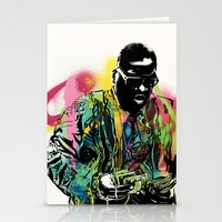 biggie smalls Stationery Cards featuring Biggie Smalls Spray Paint Illustration by ConorMcClure