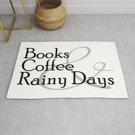 Books & Coffee & Rainy Days Rug