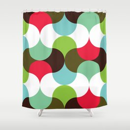 Geometric Pattern 8 (waves) Shower Curtain