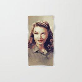 Evelyn Ankers, Vintage Actress Hand & Bath Towel