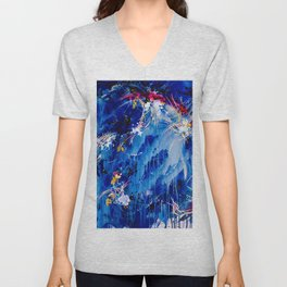 As The Universe Falls Together Unisex V-Neck