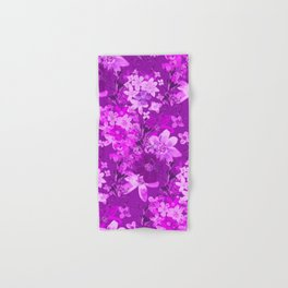 Flowers in a purple garden - a series of light purple Hand & Bath Towel