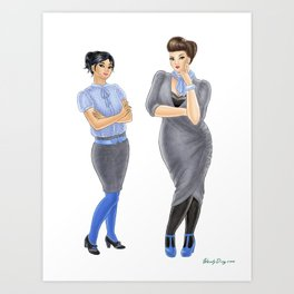 Fashion Journal: Day 12 Art Print