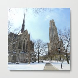 Heinz Chapel and Cathedral of Learning in winter 29 Metal Print