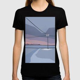 Streetlight in snow desert T-shirt