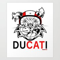 ducati Art Prints featuring duCATi by Tomasz Stasiak