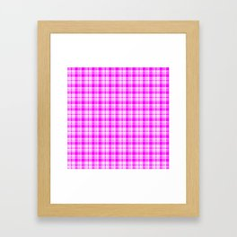 Tartan Pretty Pink Plaid Framed Art Print
