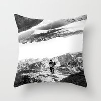 return Throw Pillows featuring Return to isolation planet by Stoian Hitrov - Sto
