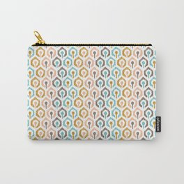 Honeycomb IKAT - Ivory Carry-All Pouch