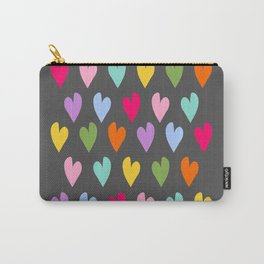 Cloud with raindrop hearts teacher appreciation gift big heart Carry-All Pouch