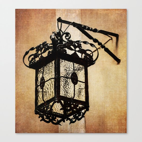 Lamp from within courtyard of St Mary the Crowned , Gibraltar Canvas Print