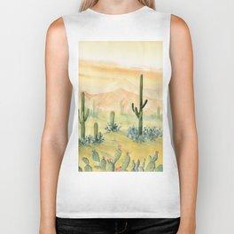 Desert Sunset Landscape Biker Tank