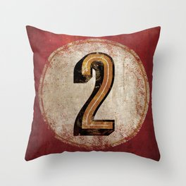 Vintage Auto Racing Number 2 Throw Pillow