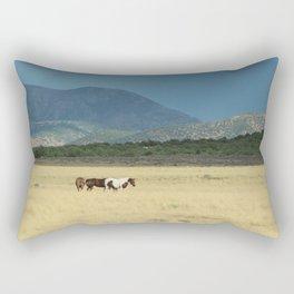 Horses in Field in Utah Rectangular Pillow