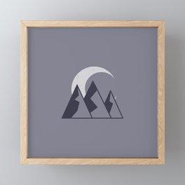 Mountain Moon Framed Mini Art Print