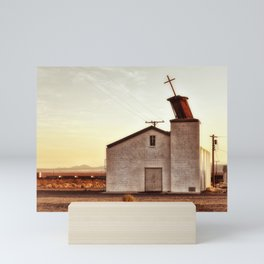 Forgotten Church Route 66 Mini Art Print