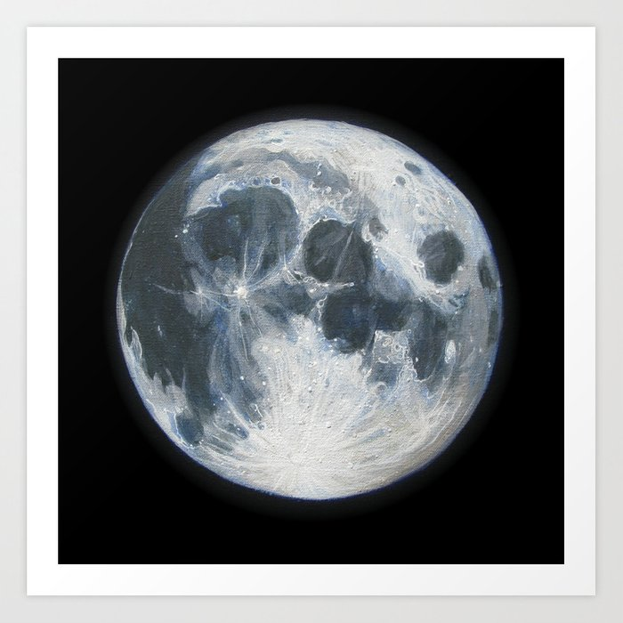 Moon Portrait 1 Art Print