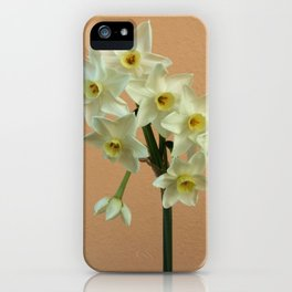 Orange Narcissus iPhone Case