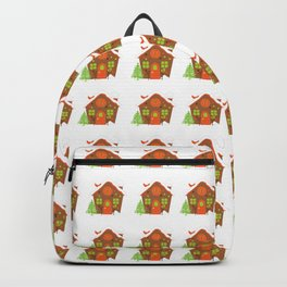 Christmas Cute Gingerbread House Backpack