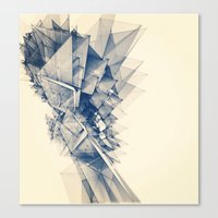 polygon Canvas Prints featuring Polygon Tower by Intelligent Pencil