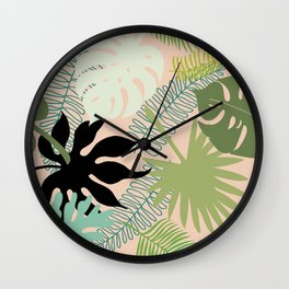 Palm Frond Play Wall Clock