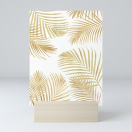 Gold Palm Leaves Mini Art Print